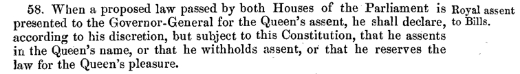 Constitution of the Commonwealth of Australia - Royal Assent