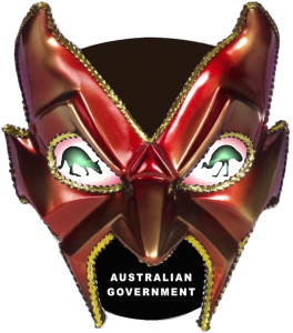 Australian Government Mask Kangaroo Emu