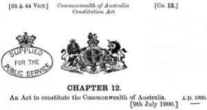 Original Constitution Commonwealth of Australia - Seal